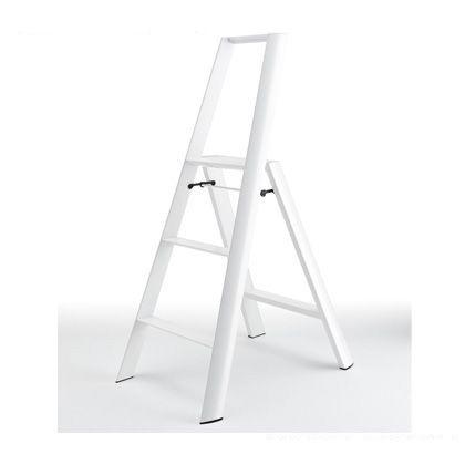 メタフィス ルカーノ 3-step 踏台(踏み台) ホワイト (ML2.0-3(WH)) 長谷川工業 脚立 上枠付き踏み台