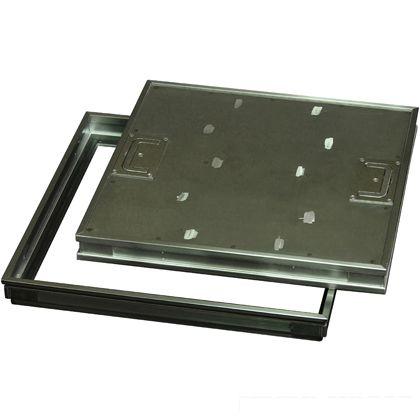 水上金属 ファースト ステンレス フロアーハッチ 樹脂タイル用、歩道用  蓋寸W450×D450mm FP-450