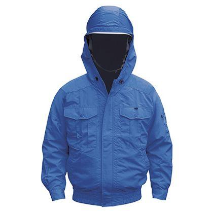 NSP NB-101 空調服(S)チタンフード付セット  ブルー2 2L (554580433220542)