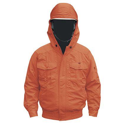 NSP NB-101 空調服(S)チタンフード付セット  オレンジ 2L (554580433220610)