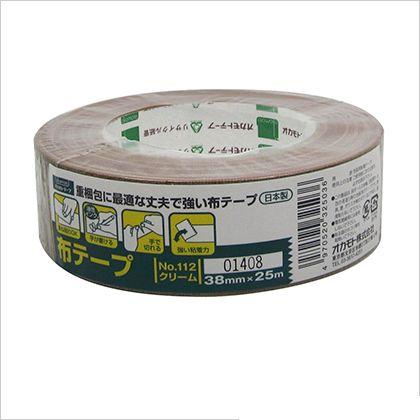 オカモト 布テープ クリーム 38mm×25M (#112) 48個