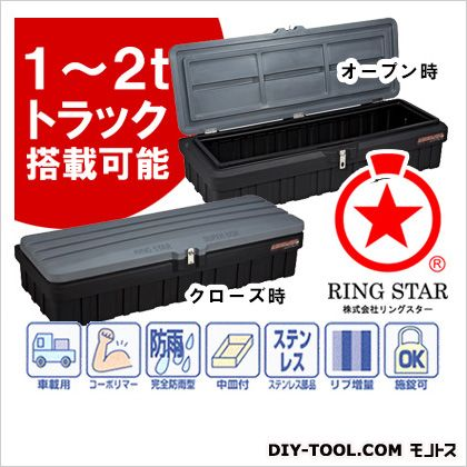 リングスター スーパーボックスグレートスリム 車載工具箱 1~2tトラック用   SGF-1600SS