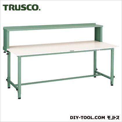 トラスコ 軽量高さ調整作業台上棚付ポリ天板  1800×750 AEM1800YURB