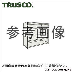 トラスコ 軽量棚背側板付5段 ネオグレー 875×600×1800H 63W25