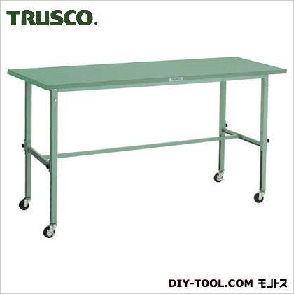 トラスコ 軽量高さ調整作業台φ75車輪付鉄天板  1800×750 SAEM1800C75