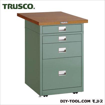 トラスコ サイドキャビネット天板付 緑 750×500 UDCT1110175