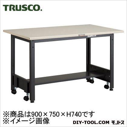 トラスコ 移動フリー作業台 鉄天板  500kg 900×750 CFWS0975