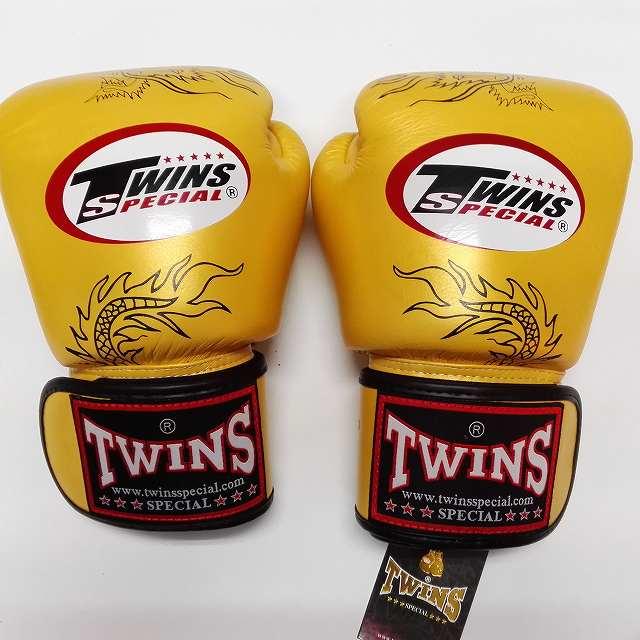 TWINS SPECIAL ボクシンググローブ 12oz 龍金 /ボクシング/ムエタイ/グローブ/キック/フィットネス/本革製/ツインズ