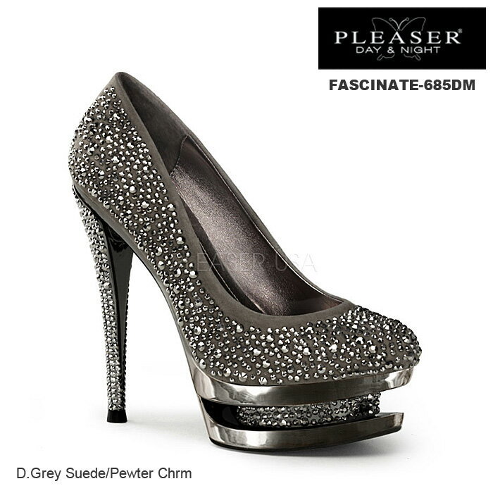 PLEASER Day & Night プリーザー パンプス/ハイヒール グレー FASCINATE-685DM-PEW◆取り寄せ