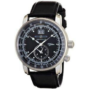 全世界送料無料/ 76402  ZEPPELIN ツェッペリン デュアルタイム ビッグデイト メンズ 腕時計 国内正規品 ウォッチ WATCH 送料無料 プレゼント