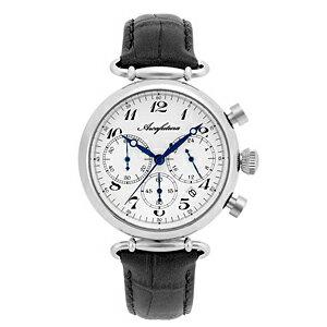 515WHBK ARCAFUTURA アルカフトゥーラ クォーツ 皮バンド クロノグラフ メンズ 腕時計 送料無料 送料込 プレゼント