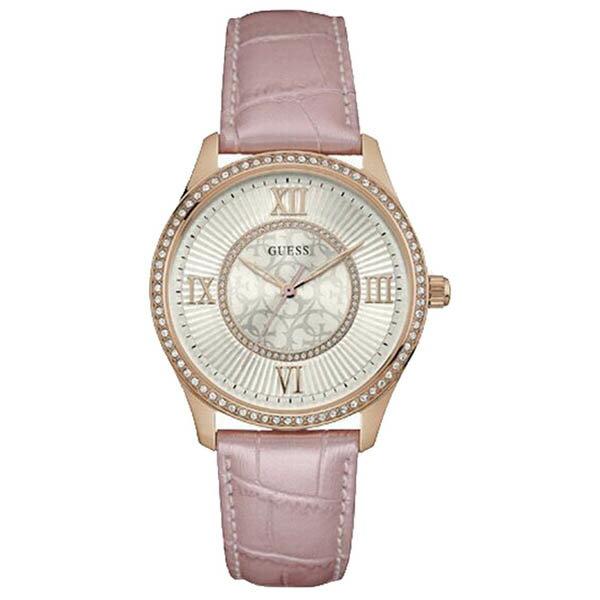 W0768L3 GUESS ゲス 腕時計 BROADWAY ブロードウェイ レディース 白文字盤 ホワイト 白 ピンクゴールド ピンクゴールドベゼル おしゃれ かわいい