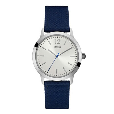 W0976G2 GUESS ゲス アナログ クオーツ シルバー文字盤 ナイロンバンド  メンズ 腕時計 国内正規品 送料無料