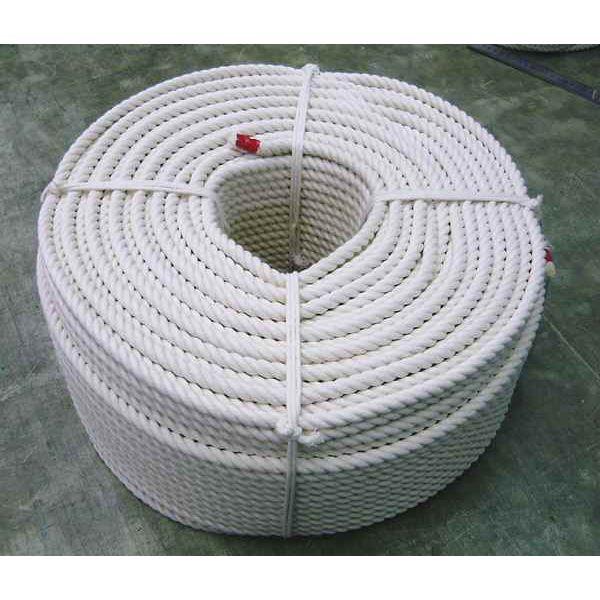 綿ロープ 生成り コットンロープ 直径24mm×長さ200m 国産