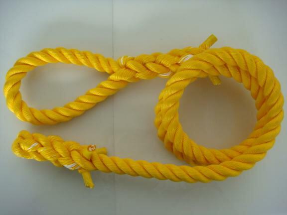 トレーニングロープ/カラーロープ/ターザンロープ/登り綱/�料無料/リプロン製ターザンロープ(登り綱) 黄 36mm×3M 10000321