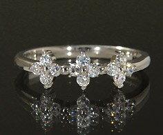 K18 ダイヤモンド 0.20ct フラワー リング送料無料 指輪 18K 18金 ゴールド ダイアモンド 誕生日 4月誕生石 刻印 文字入れ ピンキーリング メッセージ ギフト 贈り物