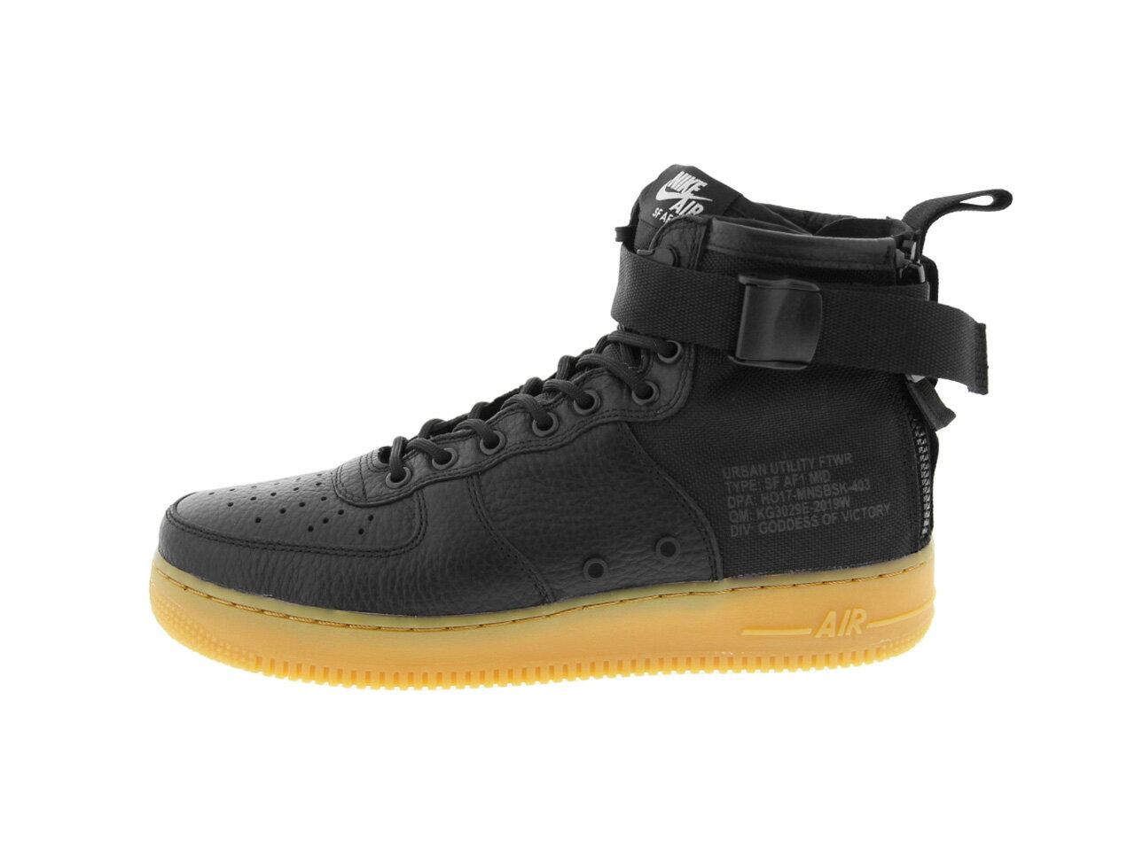 NIKE SF AF1 MID(917753-003)BLACK/BLACK-GUM LIGHT BROWN【ナイキ スペシャルフィールド エアフォースワン ミッド】【メンズファッション】【ナイキスニーカー】【靴】