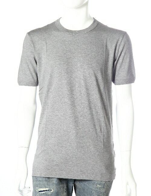 ドルガバ ドルチェ&ガッバーナ DOLCE&GABBANA Tシャツ 半袖 丸首 無地 メンズ G8FL6T FU7EQ グレー 送料無料 楽ギフ_包装