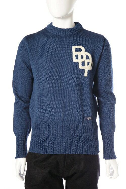 ブルー ド パナム BLUE DE PANAME セーター 長袖 丸首 メンズ H15 11 006 ブルー 送料無料 楽ギフ_包装