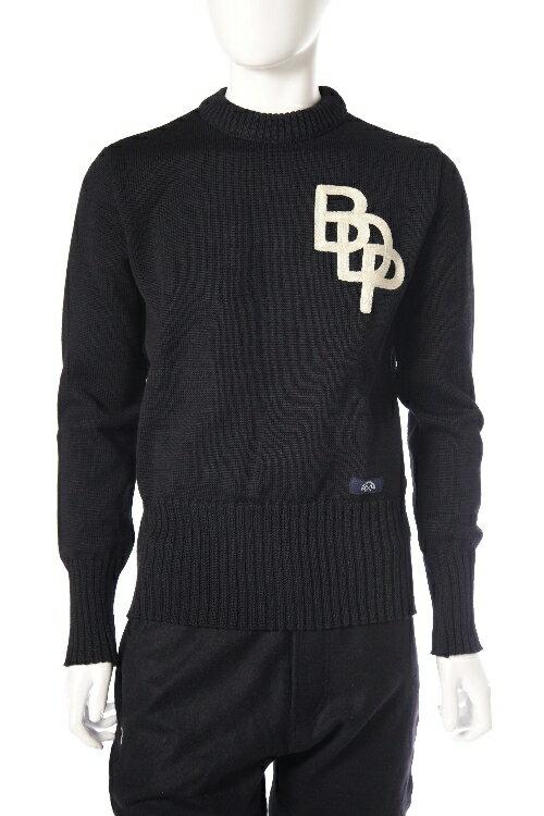 ブルー ド パナム BLUE DE PANAME セーター 長袖 丸首 メンズ H15 11 006 ブラック 送料無料 楽ギフ_包装