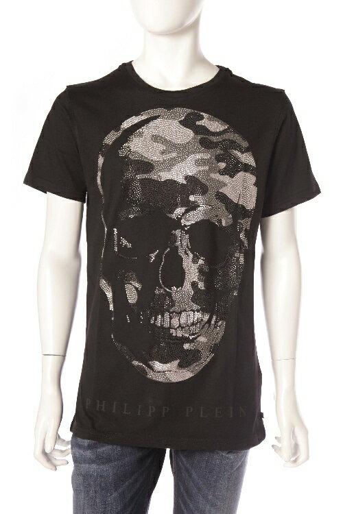 フィリッププレイン PHILIPP PLEIN Tシャツ 半袖 丸首 メンズ SS16 HM340757 ブラック 送料無料 楽ギフ_包装 一押値下