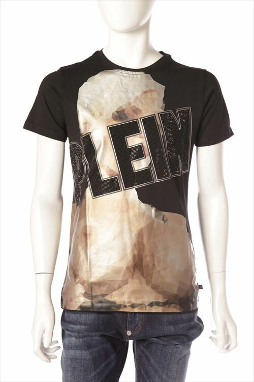 フィリッププレイン PHILIPP PLEIN Tシャツ 半袖 丸首 メンズ SS16 HM340797 ブラック 送料無料 楽ギフ_包装 一押値下