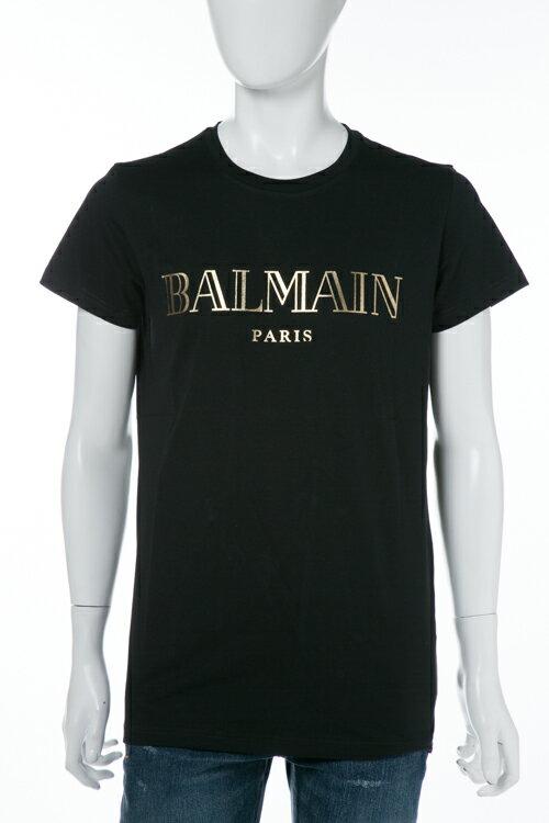 2017年秋冬新作 バルマン BALMAIN Tシャツ 半袖 丸首 メンズ W7H 8601 I039M ブラック 送料無料 楽ギフ_包装