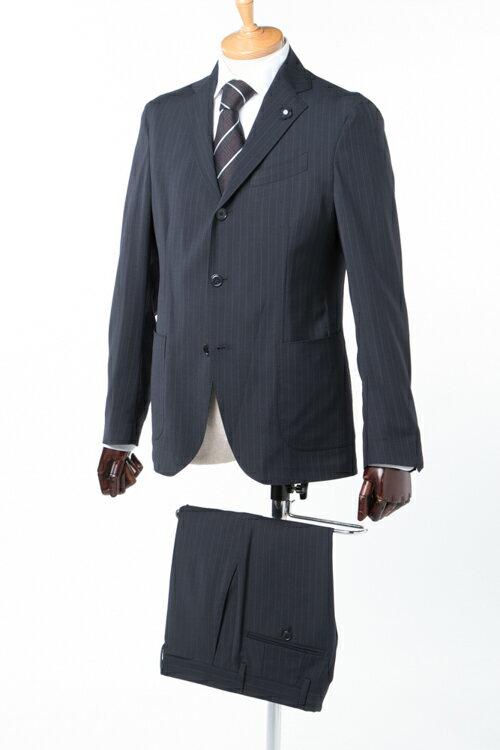 ラルディーニ LARDINI スーツ 2ピーススーツ ビジネススーツ IE032E IEEW49481 メンズ IE032E IEEW4948 ネイビー 送料無料 2017年秋冬新作