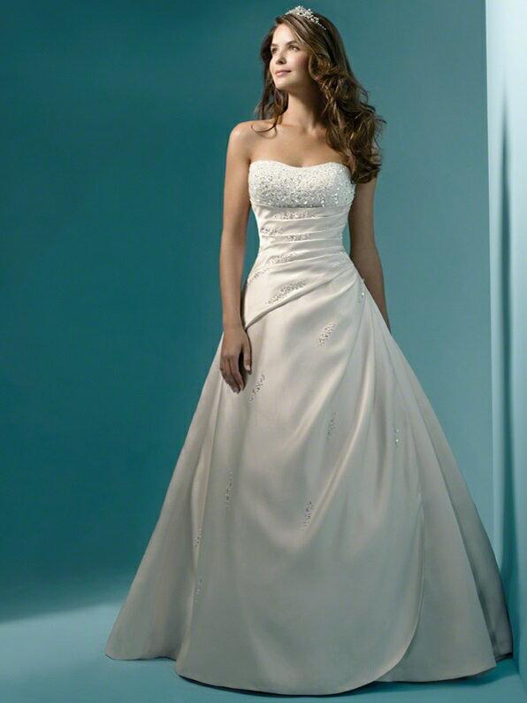 ウェディングドレス サイズオーダー無料 オーダードレス ウエディング Aライン WS0162