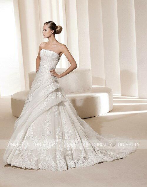 ウェディングドレス サイズオーダー無料 オーダードレス ウエディング Aライン WEDDING DRESS 披露宴 演奏会 結婚式 二次会 WS2188