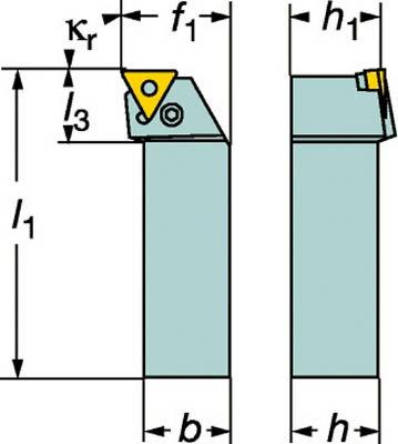 【サンドビック】サンドビック T-Max P ネガチップ用シャンクバイト PTFNL2525M16[サンドビック ホルダー切削工具旋削・フライス加工工具ホルダー]【TN】【TC】