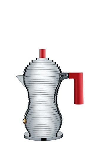 【正規輸入品】 ALESSI アレッシィ Pulcina エスプレッソコーヒーメーカー 1カップ用/レッド MDL02/1 R