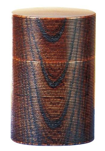 東出漆器 (欅)茶筒 小 匠久作 6223