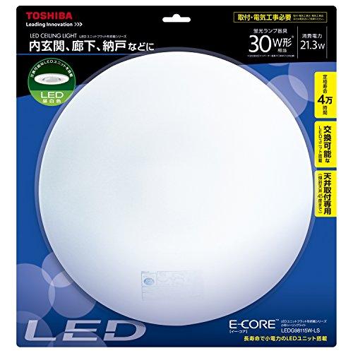 東芝 直付LED小型照明器具(SL端子台付/電気工事必要) LEDG98115W-LS LEDG98115W-LS