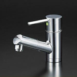 KVK 洗面化粧室 【KM8021ZTEC】 寒冷地用 洗面用シングルレバー式混合栓(eレバー) [新品]【RCP】