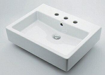 水道材料 カクダイ 角型洗面器 【#DU-0452600030 (3ホール)】[新品]【RCP】