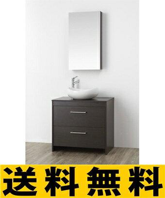 三栄水栓[SANEI] 洗面化粧台(鏡付)【WF014S-750-DB-T1】[新品]【RCP】