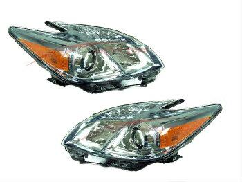 【個性派】 トヨタ プリウス ヘッドライト 2010-2011 Toyota Prius Head Lights Lamps Driver & Passenger Side LH+RH  2010-2011トヨタプリウスヘッドライトランプドライバー&助手席側LH + RH