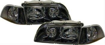 熱い販売を持っている ボルボ ヘッドライト Black clear finish headlights front lights for Volvo V40 S40 97-00  ボルボV40 S40 97から00のための黒色透明仕上げヘッドライトフロントライト