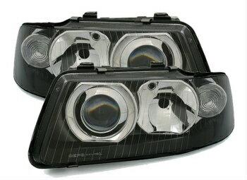 40%OFF アウディ ヘッドライト black finish headlights front lights in FACELIFT Look for Audi A3 8L 00-03  ブラック仕上げのヘッドライトアウディA3 8L 00から03のための改築・ルックでフロントライト