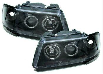 驚き価格 アウディ ヘッドライト Black clear finish projector headlights with angel eyes for Audi A3 8L 96-00  アウディA3 8L 96から00のための天使の目で黒色透明仕上げプロジェクターヘッドライト