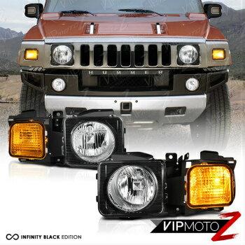 送料無料で ハマー ヘッドライト 2006-2010 Hummer H3 Pair Left Right Headlights Headlamps Corner Signal Assembly  2006-2010ハマーH3ペア左右ヘッドライトヘッドランプコーナーシグナル・アセンブリ