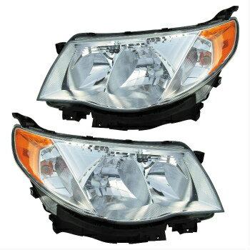 100%品質 スバル フォレスター ヘッドライト 09-10 SUBARU FORESTER HEADLIGHTS FRONT LAMPS PAIR SET  09-10 SUBARU FORESTERヘッドライトFRONT LAMPS PAIR SET