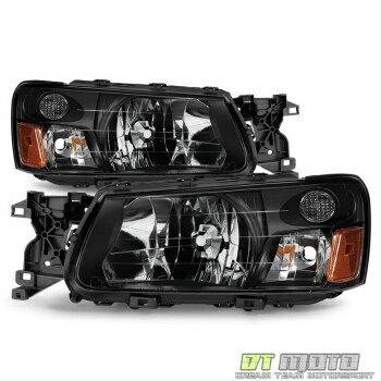 古典的なデザイン スバル フォレスター ヘッドライト 2003-2004 Subaru Forester Headlights Headlamps Left+Right Aftermarket Pair Set  2003-2004スバルフォレスターヘッドライトヘッドランプ左+右アフターマーケットペアセット