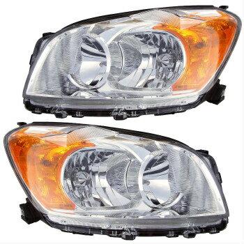 【人気のクラシックショート】 トヨタ RAV4 ヘッドライト 09-10 TOYOTA RAV-4 HEADLIGHTS FRONT LAMPS PAIR SET  09-10 TOYOTA RAV-4ヘッドライトフロントLAMPSペア集合