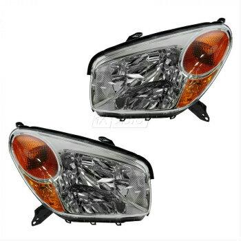 激安人気商品 トヨタ RAV4 ヘッドライト Headlights Headlamps Left & Right Pair Set for 04-05 Toyota Rav4 Rav 4  04-05トヨタRAV4ラブ4用ヘッドライトヘッドランプ左右ペアセット