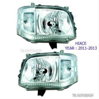 素敵な素材 トヨタ ハイエース ヘッドライト For Toyota Hiace Commuter Van 2011-2014 SET Front Head Lamp Light Replacement  トヨタハイエースコミューターバン2011-2014 SETフロントヘッドランプライトの交換のための