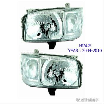 良い価格で トヨタ ハイエース ヘッドライト SET Front Head Lamp Light Replacement For Toyota Hiace Commuter Van 2005-2010  トヨタハイエースコミューターバン2005-2010についてSETフロントヘッドランプライト交換