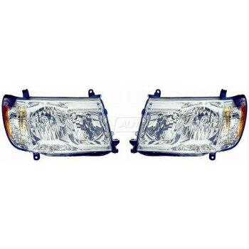 お気に入る トヨタ ランドクルーザー ヘッドライト Front Headlights Headlamps Lights Lamps Pair Set for 05-07 Toyota Land Cruiser  05-07トヨタランドクルーザー用のフロントヘッドライトヘッドランプライトランプペアセット