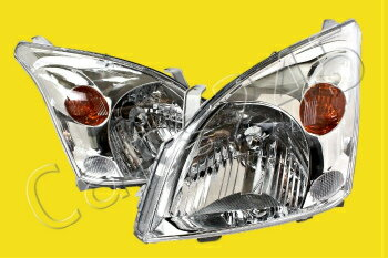 激安正規 トヨタ ランドクルーザー ヘッドライト TOYOTA LAND CRUISER FJ120 PRADO Headlights Front Lamps PAIR LH+RH 2003-2008  トヨタランドクルーザーFJ120 PRADOヘッドライトフロントランプPAIR LH + RH 2003から2008